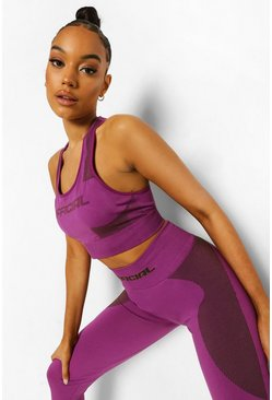 Purple Ofcl Seamfree Contour Sports Bra