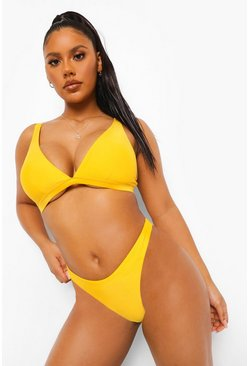 Essentials Fuller Bust Triangle Bikini Top, Orange naranja