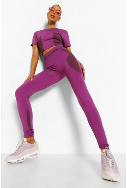 Legging sans coutures Ofcl, Purple violet