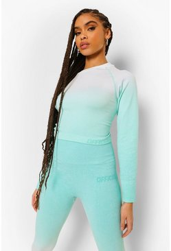 Aqua Ofcl Ombre Seamfree Gym Top