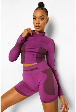 Purple Ofcl Seamfree Contour Cycling Shorts
