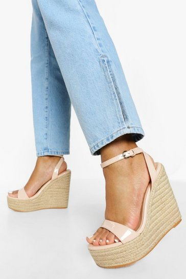 Nude Barely There High Wedge