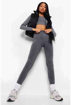 Grey Supersoft Fleece Lined Leggings