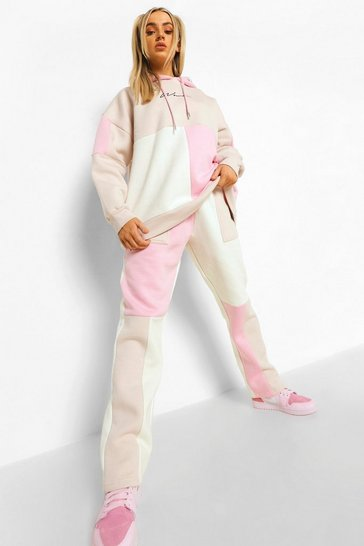 Nude Woman Colour Block Straight Leg Tracksuit