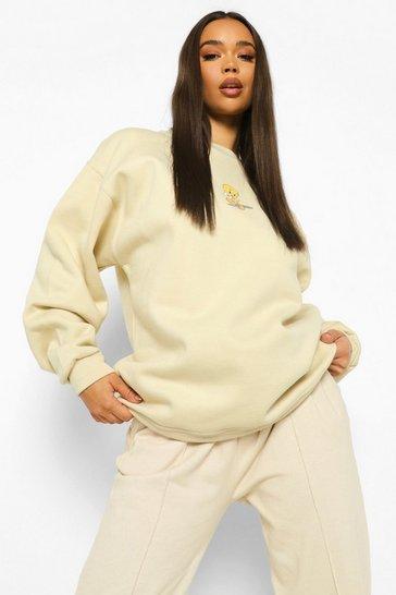 Stone beige Tweety Pie License Sweatshirt