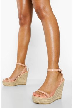 Nude 2 Part Espadrille Wedge