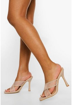 Nude Mesh Crossover Mule