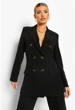 Longline Blazer & Straight Leg Trouser Suit Set