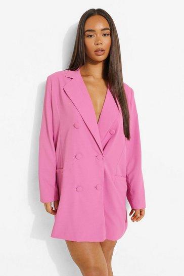 Pink Oversized Tailored Blazer Dress