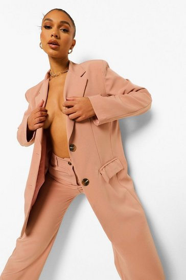 Dusty rose pink Relaxed Fit Blazer