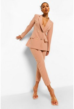 Dusty rose pink Slim Fit Tailored Trousers