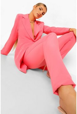 Candy pink pink Slim Fit Tailored Trousers
