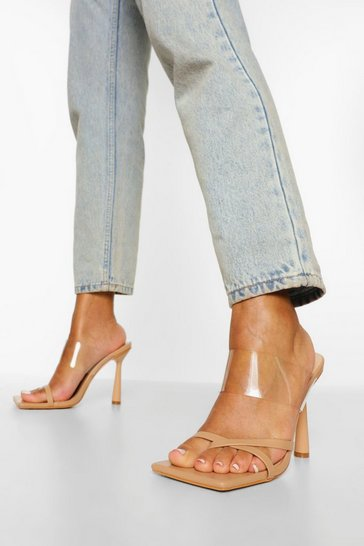 Nude Clear Strappy Mule