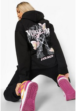 Black World Tour Butterfly Hooded Tracksuit