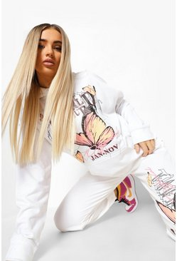 White World Tour Butterfly Hooded Tracksuit