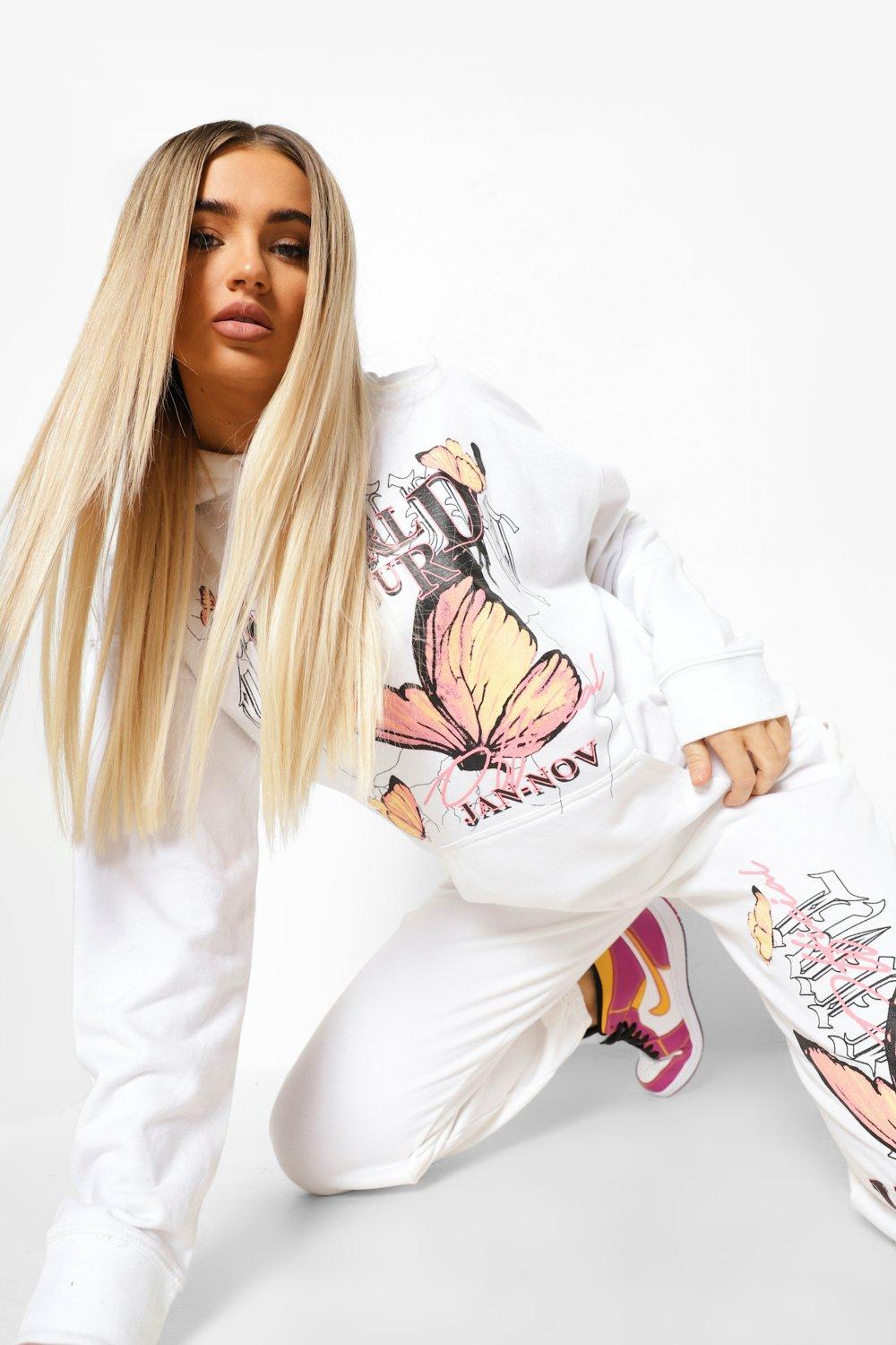 Tracksuits World Tour Butterfly Hooded Tracksuit