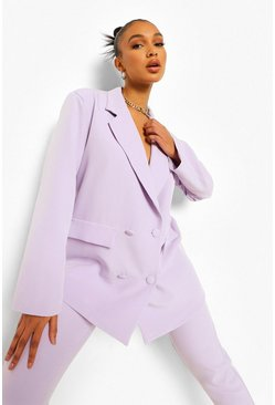 Oversized Blazer & Belted Trouser Suit Set
