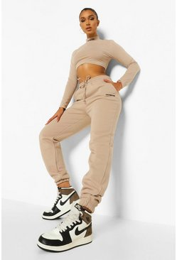 Taupe beige Official Long Sleeve Crop & Jogger