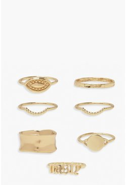 Gold metallic Nasty Ring Pack