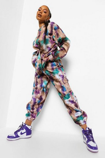 Purple Tie Dye Oversized Jogger