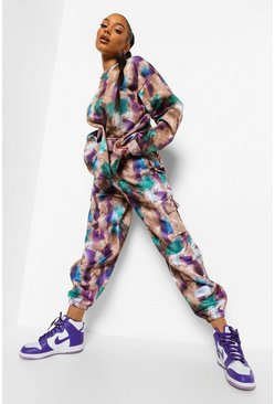 Purple Oversized Tie Dye Joggingbroek