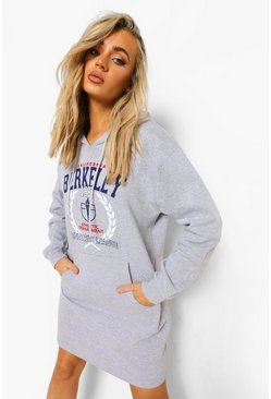 Grey California Varsity Hoodie Dress
