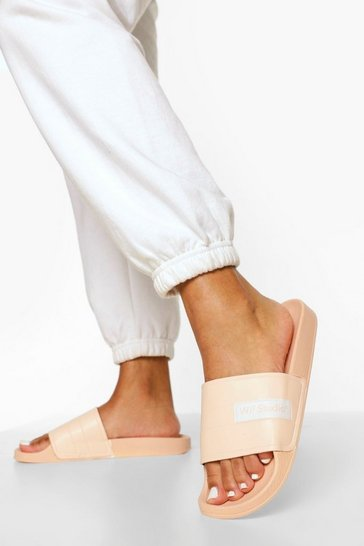 Nude W Studio Embossed Sliders