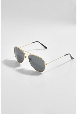 Aviator Gold Frame Tinted Sunglasses