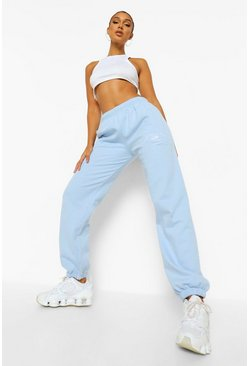 Pale blue blue Venice Embroidered Jogger