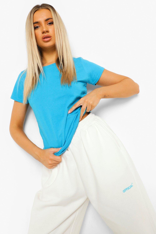 WOMENS Blue Basic T-Shirt