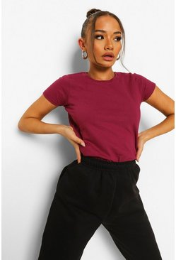 Burgundy red Basic T-shirt