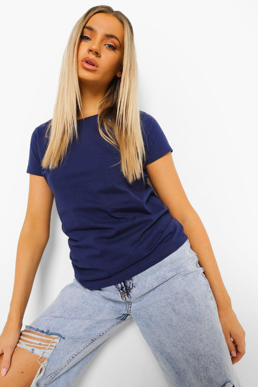 WOMENS Navy Basic T-Shirt