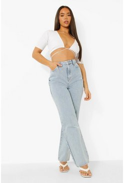 Ice blue Acid Wash Boyfriend Jean