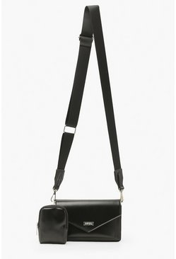 Black Ofcl Cross Body With Mini Bag
