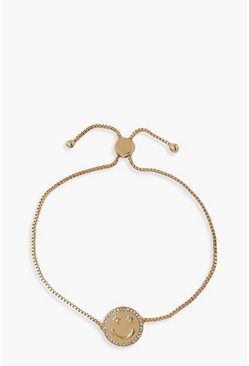 Gold metallic Star Eyed Diamante Bracelet