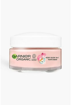 Garnier Organic Rosy Glow 3in1 Youth Cream, Rose