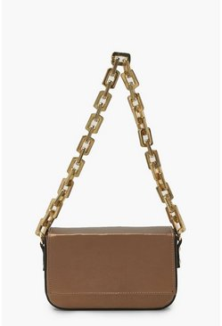 Bronze metallic Chunky Chain Underarm Bag