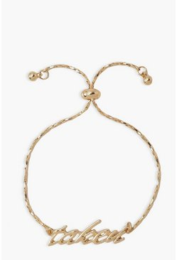 Gold metallic Taken Bride Bracelet