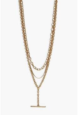Gold metallic Toggle Layered Chains