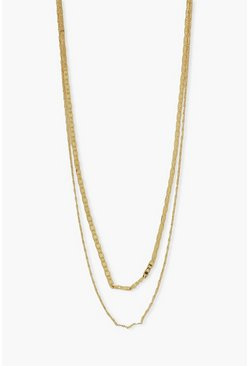 Gold metallic Double Layer Simple Chain