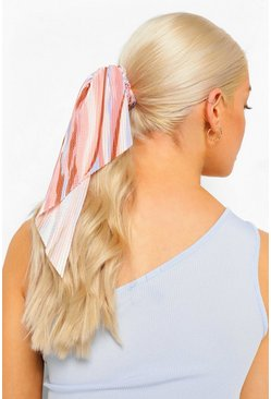 Peach orange Plisserad scrunchie med scarf