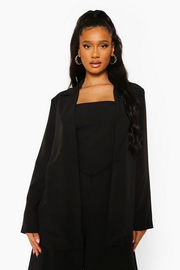 Black Oversized Tailored Blazer
