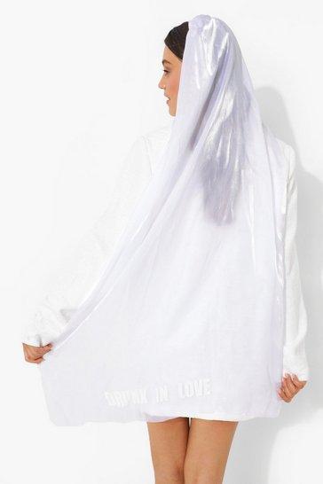 White Drunk In Love Bridal Veil