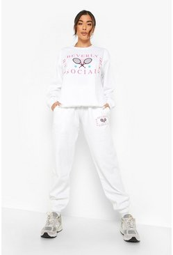 White Beverly Hills Tennis Club Sweater Tracksuit