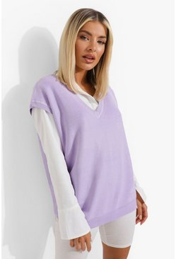 Bright lilac purple Oversized Tank