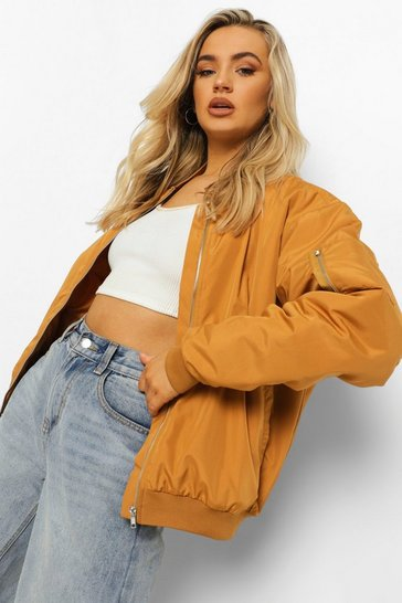 Rust orange Oversized Bomber Jacket