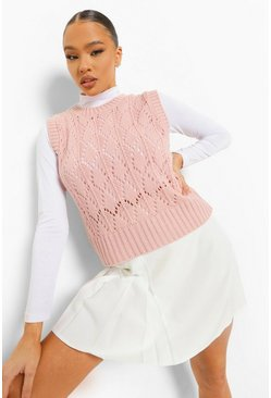 Pink Pointelle Knitted Tank