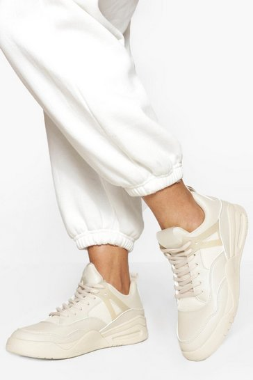 Stone beige Sporty High Top Trainer
