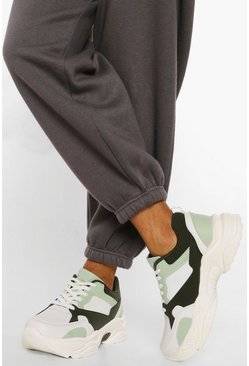 Khaki Colour Block Gympen