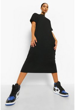 Black Basic T-shirt Maxi Dress